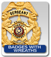 BADGES WITH WREATHS